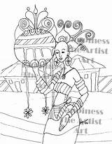 Coloring Adult Maid Milk African Happiness Maids sketch template