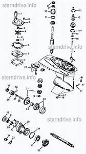 2  U0026 3 Cylinder Mercury Outboard Parts Drawing  1 To 18