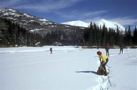 File:People enjoying snowshoeing in winter.jpg - Wikimedia ...