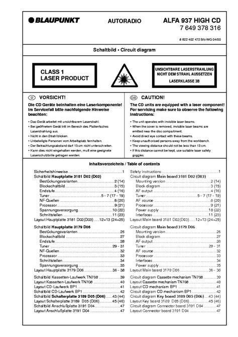 blaupunkt rcr84 7643772013 service manual schematics eeprom repair info for
