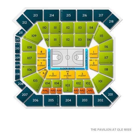 bureau d 馗ole the pavilion at ole miss seating chart seats