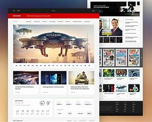 news portal website template free psd download download psd With e magazine templates free download