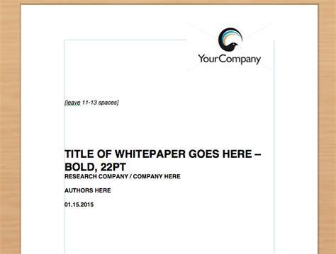 simple whitepaper template free