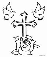 Coloring Cross Crosses Drawing Jesus Flowers Wings Printable Cool2bkids Catholic Drawings Clipart Pretty Flower Three Easter Tattoo Stations Colouring Sheets sketch template