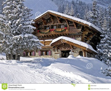 a chalet in the alps stock photos image 26912553