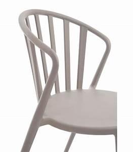 Chaise De Jardin Design : chaise de jardin design en polypropyl ne greige ~ Teatrodelosmanantiales.com Idées de Décoration