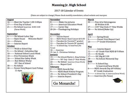 manning junior high school homepage