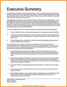 Executive Summary Format Template One Page Executive Summary Template Qualads