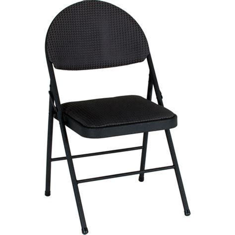 Cosco Folding Chairs Walmart by Cosco Comfort Folding Chair Black Set Of 4 Walmart