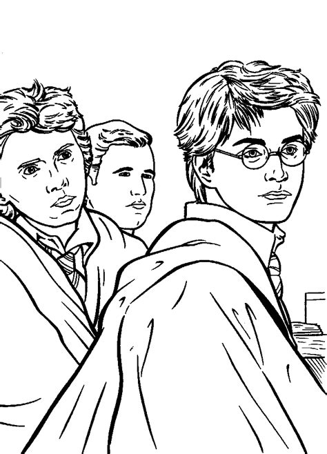 harry potter coloring pages free printable harry potter coloring pages for