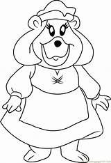 Gummi Grammi Bears Coloring Pages Looking Disney Wanderer Template Coloringpages101 Adventures sketch template