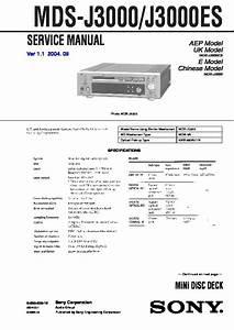 Sony Mds-j3000  Mds-j3000es Service Manual