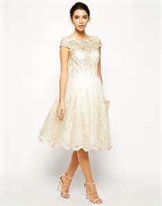 midi wedding dress chi chi premium metallic lace midi prom dress elizabeth designs the wedding