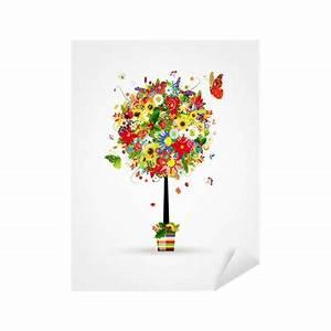 Pot Pour Arbre : sticker quatre saisons concept art arbre en pot pour ~ Dallasstarsshop.com Idées de Décoration