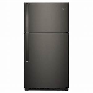 Whirlpool 33 In  W 21 3 Cu  Ft  Top Freezer Refrigerator