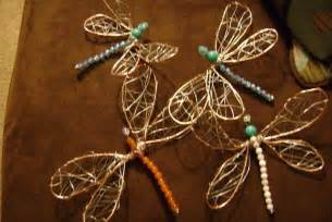 wire dragonflies 183 how to make a wire model 183 art beadwork and wirework on cut out keep