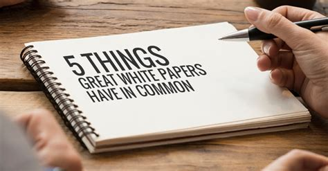 5 Things Great White Papers