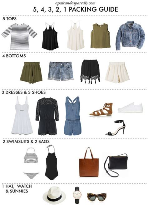 how to pack light how to pack for a summer