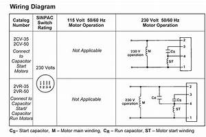 Wiring Diagram For Capacitor Start Capacitor Run Motor
