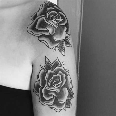 top  rose tattoo  shoulder  girls