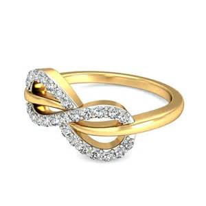 wedding ring designs tantalizing infinity ring ring 0 25 carat cut on yellow gold jeenjewels