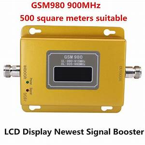 Newest Gsm 980 Lcd Repetidor Gsm 900mhz Signal Booster Gsm