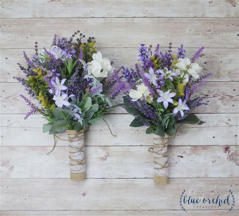 Wildflower Bridesmaid Bouquet Lavender Bouquet Purple
