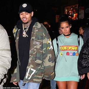 Chris Brown leaves club with mystery woman and Rihanna ...