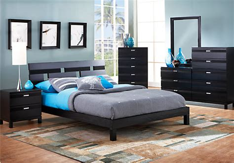 gardenia black  pc queen platform bedroom bedroom sets