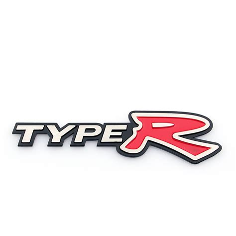 3d Aluminum Emblem Badge Sticker Type R Silver For Honda