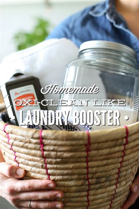 Homemade Oxi Clean Like Laundry Booster Recipe Diy