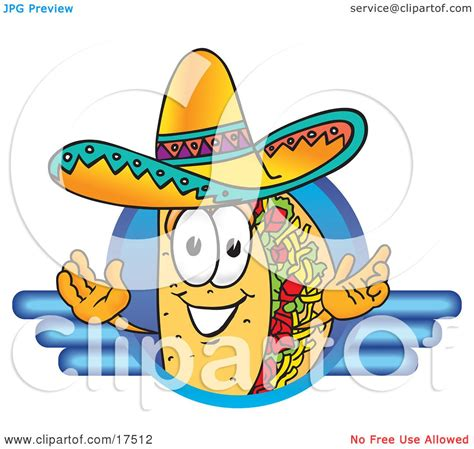 clipart foto clipart picture of a taco mascot character on a