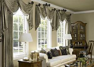 10 curtain ideas for an elegant living room for Interior decorator window treatments