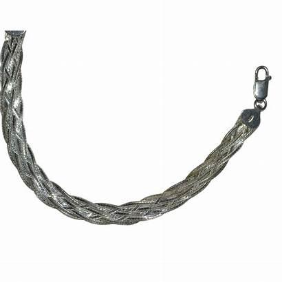 Herringbone Chain Sterling Braided Bracelet Widow