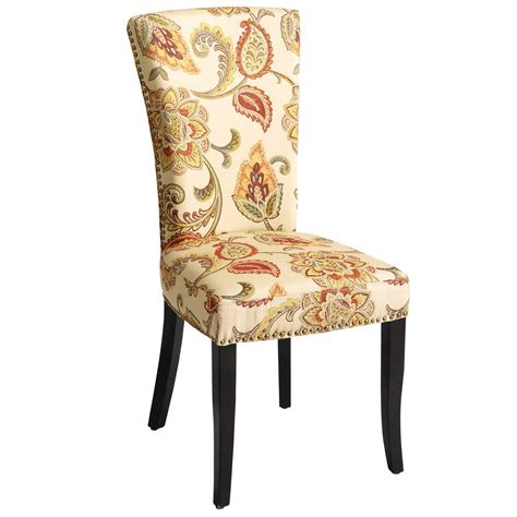 adelaide ochre floral dining chair pier  imports