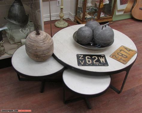Coffee Table Contemporary Nesting Coffee Table Round