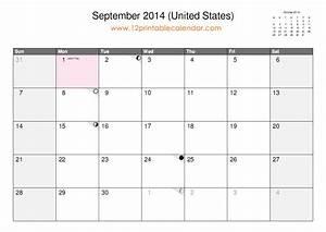9 Best Images Of September 2014 Calendar Printable