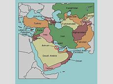 Test your geography knowledge Middle East countries
