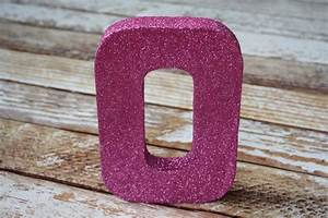 Diy letter decor ideas yesterday on tuesday for Glitter cardboard letters