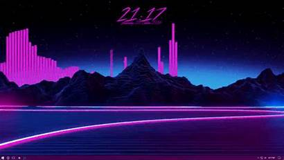Retro Synthwave Rainmeter 90 Computer Lowgif Format