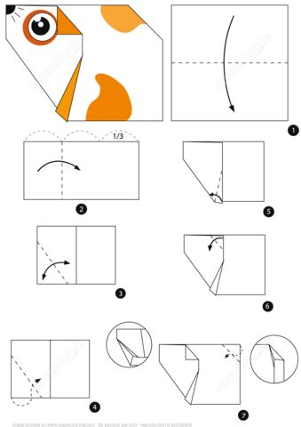 origami hamster instructions  printable papercraft