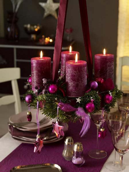 candles for christmas table christmas candles ideas for interior
