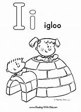 Letter Coloring Pages Igloo Printable Alphabet Ice Cream Getcoloringpages sketch template