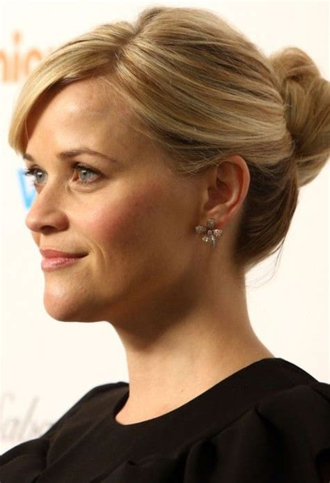 reese witherspoon updo hairstyle twisted bun