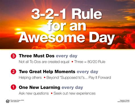 How To Have An Awesome Day, Simply  Simpler Worksimplerwork