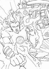 Colorir Quarteto Fantastico Colorare Fantastiques Torcia Fantastici Johnny Umana Tocha Flambe Fogo Fantasticos Hellokids Llamas Antorcha Cartoni Malbuch sketch template