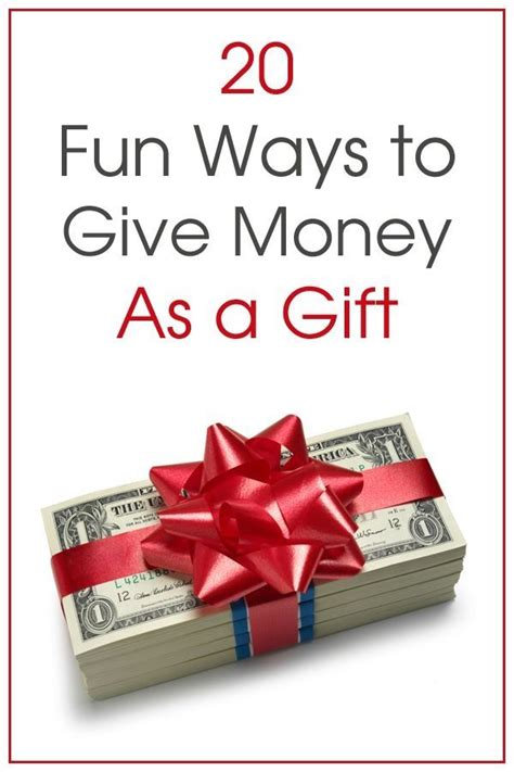 clever ways  give money   gift