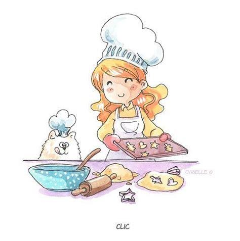 dessin cuisine la pâtissière gif cuisine étes dessins