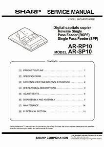 Sharp Ar-rp10 Service Manual