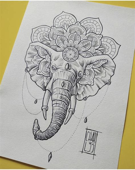 elephant mandala tattoo tattoo ideas mandala tatuering